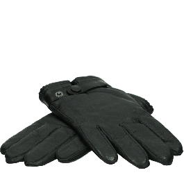 UGG LEATHER BELTED GLOVE BLACK 903.00.012